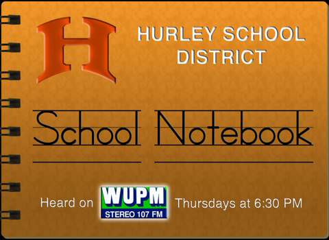Hurley School Notebook logo